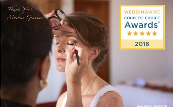 Alma Vallejo Cabo Makeup Wins a WeddingWire Couples' Choice Award® 2016