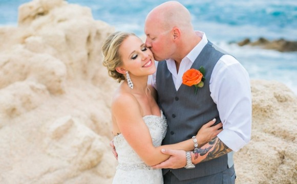 Heather's Glamorous Makeup and Up-Do For Her Los Cabos Wedding